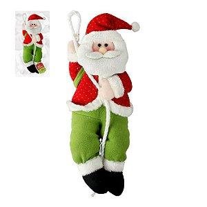 Papai Noel subindo na corda Zein 30cm