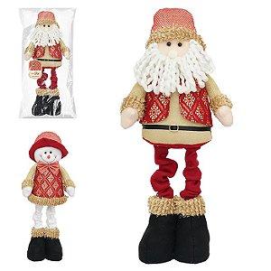 Bonecos diversos natalinos Joy Zein 52cm ficam em pé