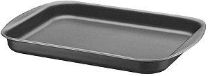 Assadeira rasa alumínio antiaderente 28cm Tramontina preto