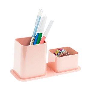 Porta canetas e clips Dello Color rosa pastel