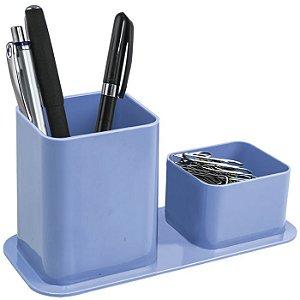 Porta canetas e clips Dello Color Azul Pastel