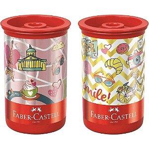 Apontador c/ depósito lets go Faber Castell