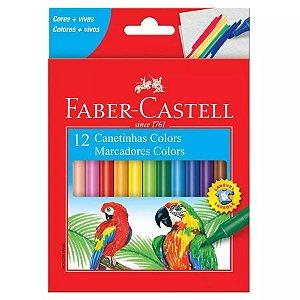 Canetinha Hidrografica 12 Cores Faber Castell