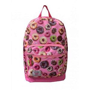 Mochila juvenil notebook feminina Fuseco donuts