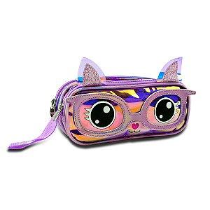 Estojo gatinha holográfica Clio PH3157F
