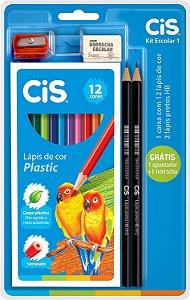 kit escolar CIS com 5pçs