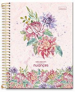 Caderno universitário Natureza em Nuances Cadersil 200fls 10mts
