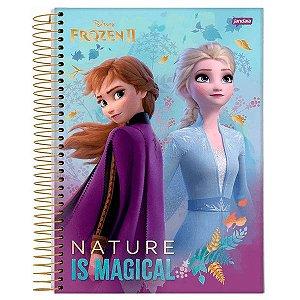 Caderno universitário Frozen II Jandaia 80fls