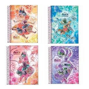 Caderno universitário Alice Disnep Jandaia 96fls