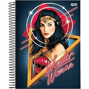 Caderno universitário Wonder Woman Credeal *c/ adesivos 96fls