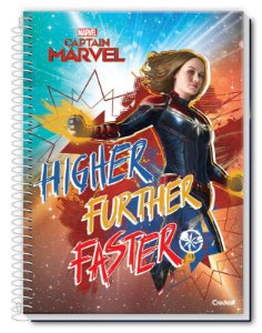 Caderno universitário Captain Marvel Credeal 160fls 10mts