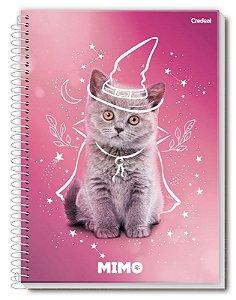 Caderno universitário Mimo Credeal 160fls 10mts c/ adesivos