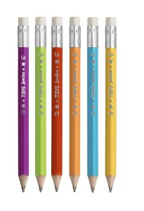 Lápis preto Jumbo triangular c/ borracha Tris