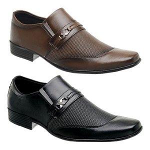 Sapato Social Siroco Preto ou Capuccino