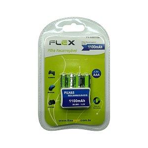 Pilha Recarregável 1100 mAh FlexGold FX-AAA11B4