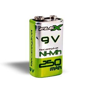 Bateria Recarregável 9v 250mAh FX-9V-25B1 Flex Gold