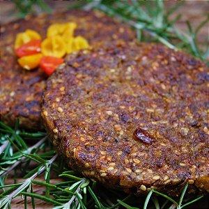 Hambúrguer de Shimeji com Castanhas e Quinoa