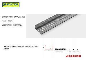 BARBIERI PERFIL CANALETA F530 0,50mm x 3,00m