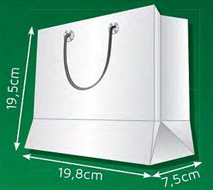 Sacola de Papel PG - (LxAxP) 19,8 x 19,5 x 7,5 cm