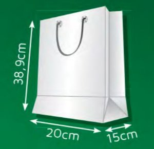 Sacola de Papel AP - (LxAxP) 20 x 38,9 x 15 cm