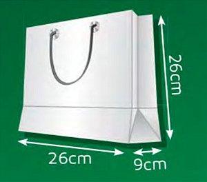 Sacola de Papel QP - (LxAxP) 26 x 26 x 9 cm