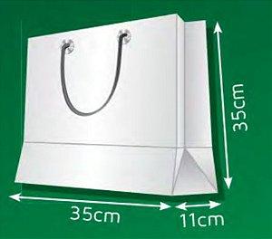Sacola de Papel QM - (LxAxP) 35 x 35 x 11 cm