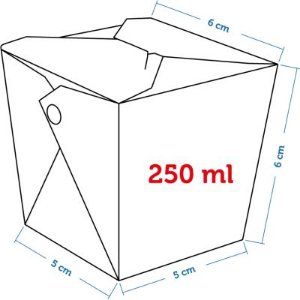 Caixa Box Delivery - Tamanho PP 250ml - (LxAxP) 5 x 6 x 5 cm