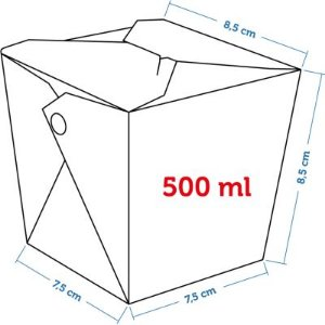Caixa Box Delivery - Tamanho P 500ml - (LxAxP) 7,5 x 8,5 x 8,5 cm