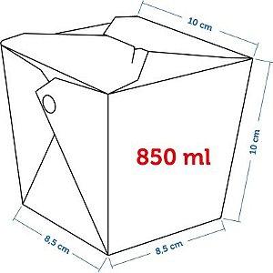 Caixa Box Delivery - Tamanho M 850ml - (LxAxP) 8,5 x 10 x 10 cm