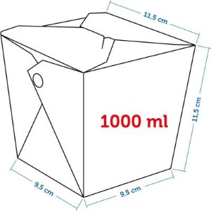 Caixa Box Delivery - Tamanho G 1000ml - (LxAxP) 9,5 x 11,5 x 11,5 cm