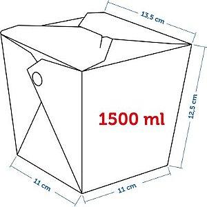 Caixa Box Delivery - Tamanho GG 1500ml - (LxAxP) 11 x 12,5 x 13,5 cm
