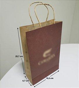 Sacola de Papel - (LxAxP) 16,5 x 25,7 x 6,7 cm