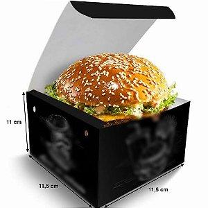 Caixa de Hamburguer Box Grande - (LxAxP) 11,5 x 11 x 11,5 cm