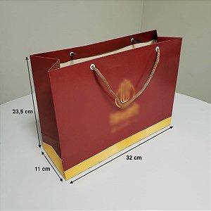 Sacola de Papel - (LxAxP) 32 x 23,5 x 11 cm