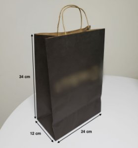 Sacola de Papel - (LxAxP) 24 x 34 x 12 cm