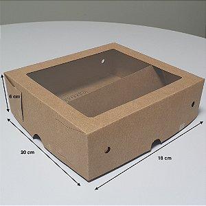 Caixa sem Colagem com Visor e Acetato Tampa e Fundo + Divisoria - (LxAxP) 18 x 6 x 20 cm