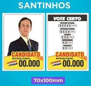 Santinho Político - Papel Couchê 90g - 7 x 10 cm
