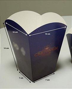 Caixa Embalagem Pipoca G - (LxAxP) 10 x 14 x 10 cm