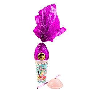 Copo Infantil  Rosa com Ovo de Páscoa 200g Ao Leite