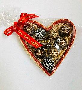 Caixa de Bombons Coração Truffados Sortidos embalados  c/ 10 Bombons - 172 g