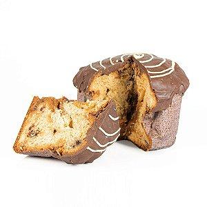 Panetone recheado c/ Doce de Leite com Nozes com Cobertura de Chocolate
