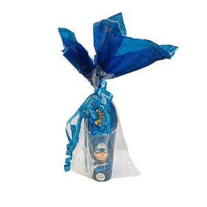 Copo Infantil  Azul com Ovo de Páscoa 200g Ao Leite