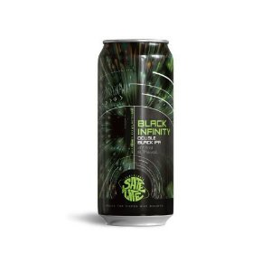 Cerveja Satélite Black Infinity Double Black IPA - Lata 473 ml