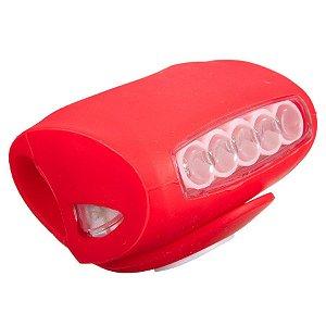 LANTERNA TRASEIRA SAFTY PARA BIKE 5 LEDS