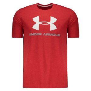 CAMISETA UNDER ARMOUR SPORTSTYLE LOGO VERMELHA