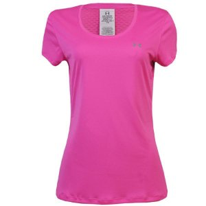 CAMISETA UNDER ARMOUR FLYWEIGHT FEMININA ROSA