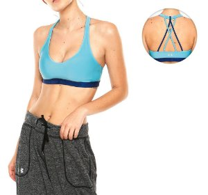 TOP UNDER ARMOUR LOW STRAPPY COM BOJO AZUL
