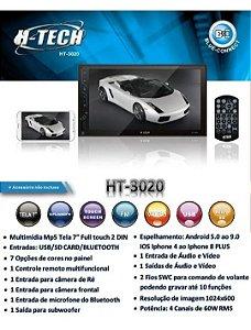 Multimidia Mp5 Universal HT3020 H-Tech 7 Pol Espelhamento Bt Fm Usb Sd