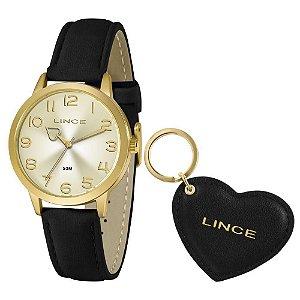 Kit Relógio Lince + Chaveiro Feminino