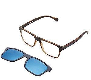 Óculos Clip On Empório Armani Tartaruga